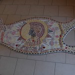 africa mosaique table