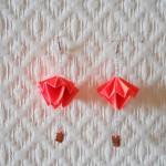 Boucles doreilles Orange fluo